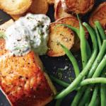 Salmon With Potatoes and Horseradish Sauce